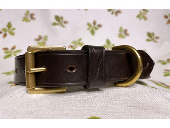 Acorn Saddlery Leather Dog Collar