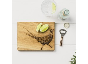 Just Slate Pheasant Oak Cutting Board & Bottle Opener Set
