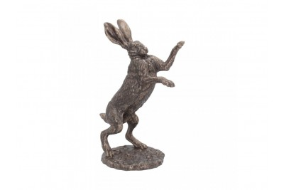 Bronzed Hare Sculpture - 'Fight'