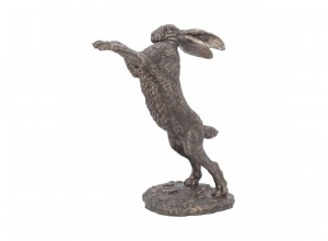 Bronzed Hare Sculpture - Might