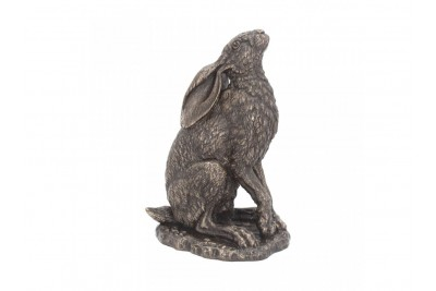 Bronzed Hare Sculpture - Moonlight