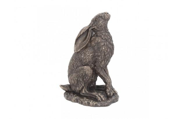 Bronzed Hare Sculpture - Moonlight