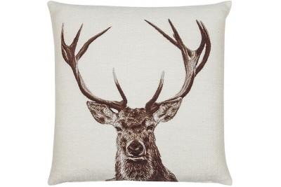 Stately Stag Woven Cushion - White