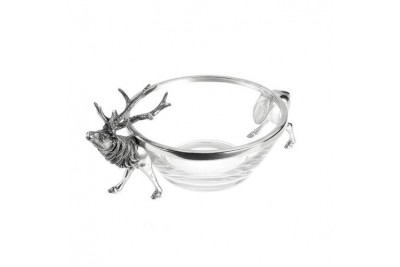 Stag Pewter Bowl