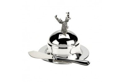 Stag Butter Dish - Round