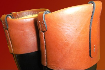 Brown Leather Boot Tops For Riding Boots