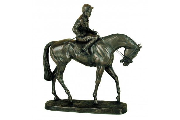 Derby Day Racehorse Bronze Ornament