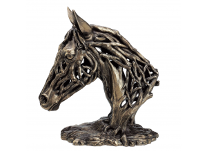 Endurance Horses Head Bronze Ornament