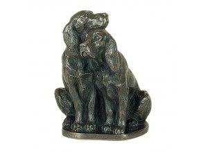 Pair Of Spaniels Bronze Ornament