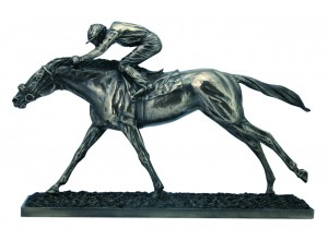 The Final Straight Racehorse Bronze Ornament