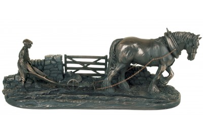 Ploughman Bronze Ornament