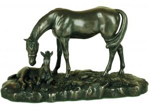 Small Mare & Foal Bronze Ornament
