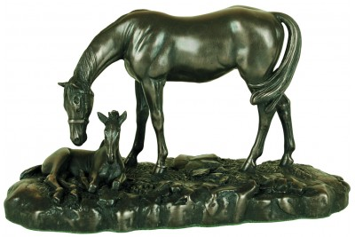 Small Mare & Foal Bronze Ornament