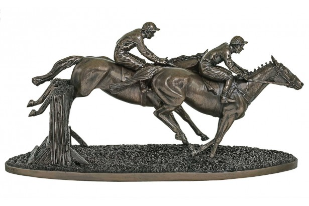 Over The Last Racehorse Bronze Ornament