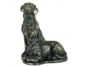 Pair Of Labradors Bronze Ornament