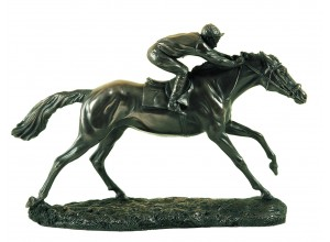The Final Furlong Racehorse Bronze Ornament