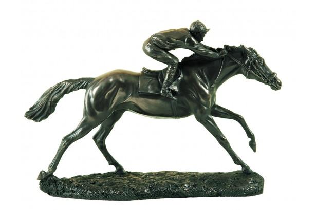 The Final Furlong Racehorse Bronze Ornament