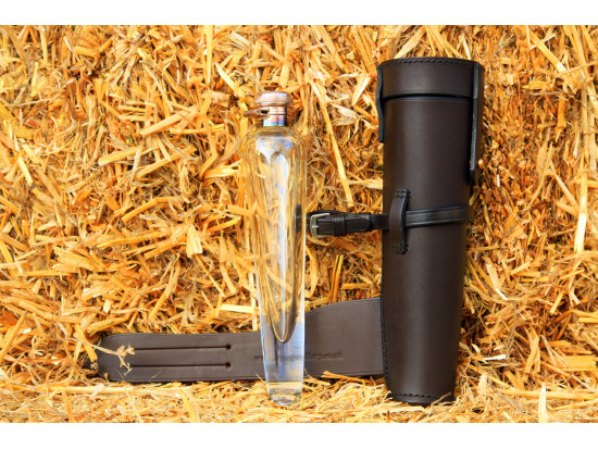Crystal Conical Flask & Leather Case