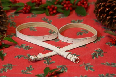 White Leather Garter Straps