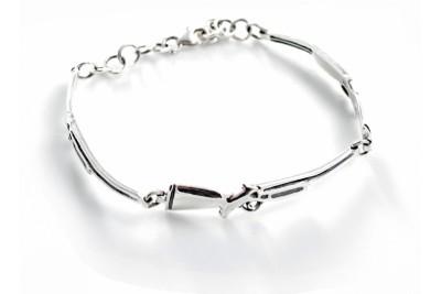 Hiho Abbey Ling Sterling Silver Shotgun Bracelet