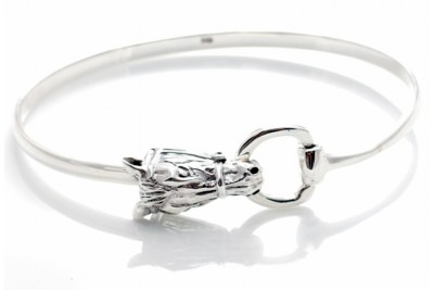 Hiho Sterling Silver Horse Head And Snaffle Bit Bracelet