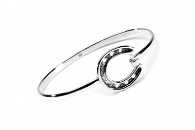 Hiho Sterling Silver Horseshoe Bangle