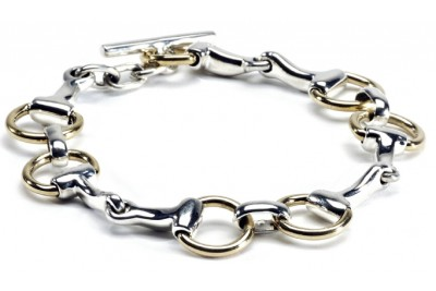 Hiho Two Tone Snaffle Bracelet