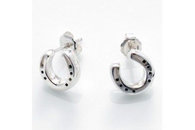 Hiho Sterling Silver Horseshoe Studs