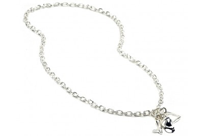 Hiho Sterling Silver Fob Necklace With Equestrian Charms