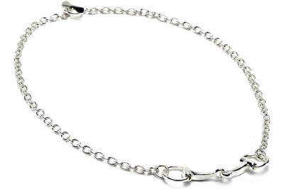 Hiho Sterling Silver Snaffle Bit Necklace