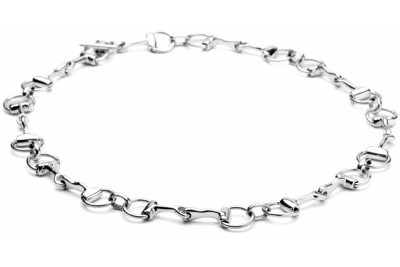 Hiho Sterling Silver Snaffle Necklace