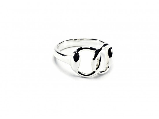 Hiho Stering Silver Snaffle Ring