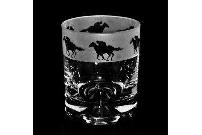 Etched Whiskey Tumbler