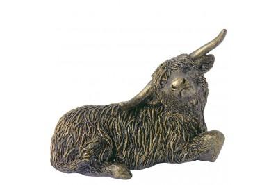 Bronzed Highland Cow