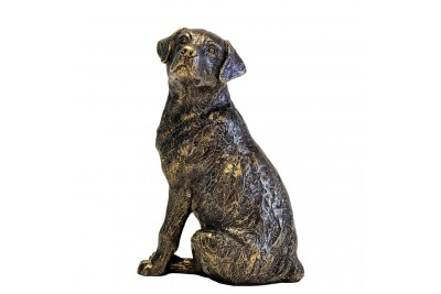 Bronzed Labrador Sitting