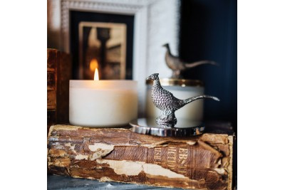 Culinary Concepts Pheasant Wax Filled Candle And Lid Snuffer