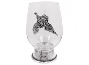 English Pewter Company Pheasant Contemporary Wine Glass