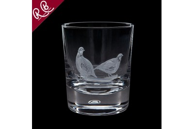 Royal Brierley Engraved Tumbler - Game Partridges