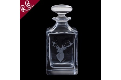 Royal Brierley Engraved Decanter - Red Stag