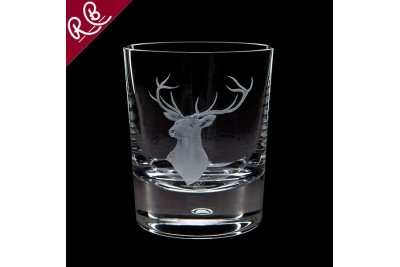 Royal Brierley Engraved Tumbler - Red Stag