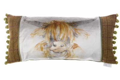 Highland Cow Patch Cushion