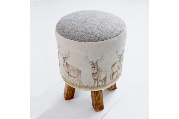 Voyage Maison Monty Footstool - Moorland Stag
