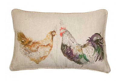 Mr & Mrs Chicken Cushion