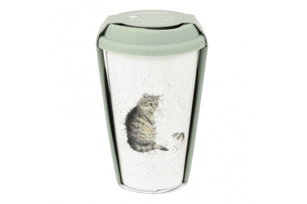 Wrendale Travel Mug - Cat And Mouse