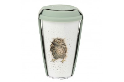 Wrendale Travel Mug - What A Hoot Owl