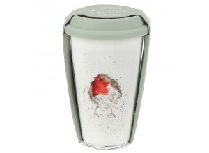 Wrendale Travel Mug - Garden Friend Robin