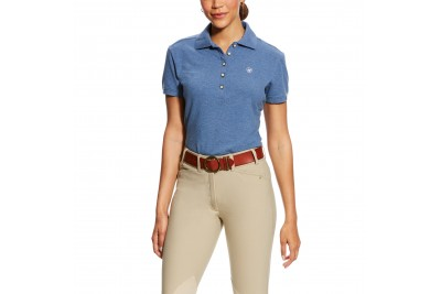 Ariat Women's Prix Polo (Indigo Fade Heather)