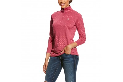 Ariat Women's Sunstopper 1/4 Zip Top (Rose Violet Dot)