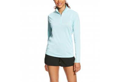 Ariat Women's Sunstopper 1/4 Zip Top (Sky Drift)