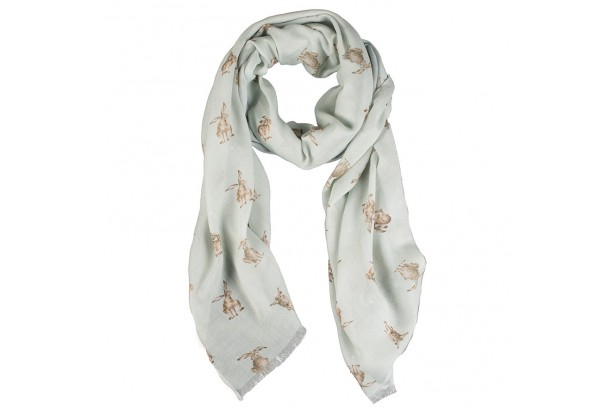 Wrendale Green 'Leaping Hare' Scarf